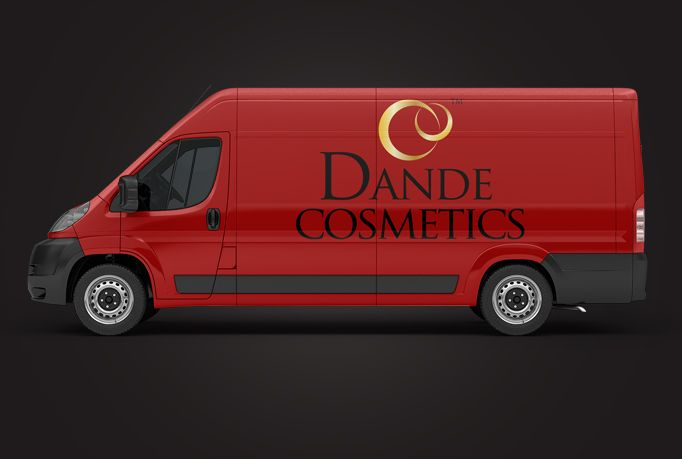 Put your text or logo on 3d vehicle van car lorry or truck
