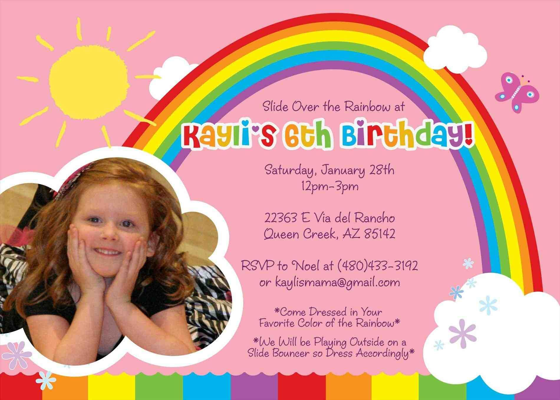 Birthday Dinner Party Invitation Wording As An Additional Inspiration Rainbow Birthday Invitations Birthday Invitations Kids Birthday Invitation Card Template