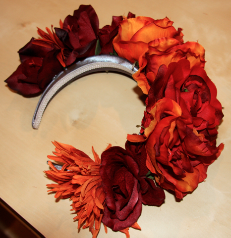 Day Of The Dead Flower Crown Tutorial Diy Flower Crown Day Of Dead Costume Halloween Flowers