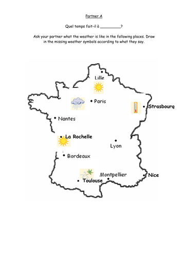 french weather activities quel temps fait