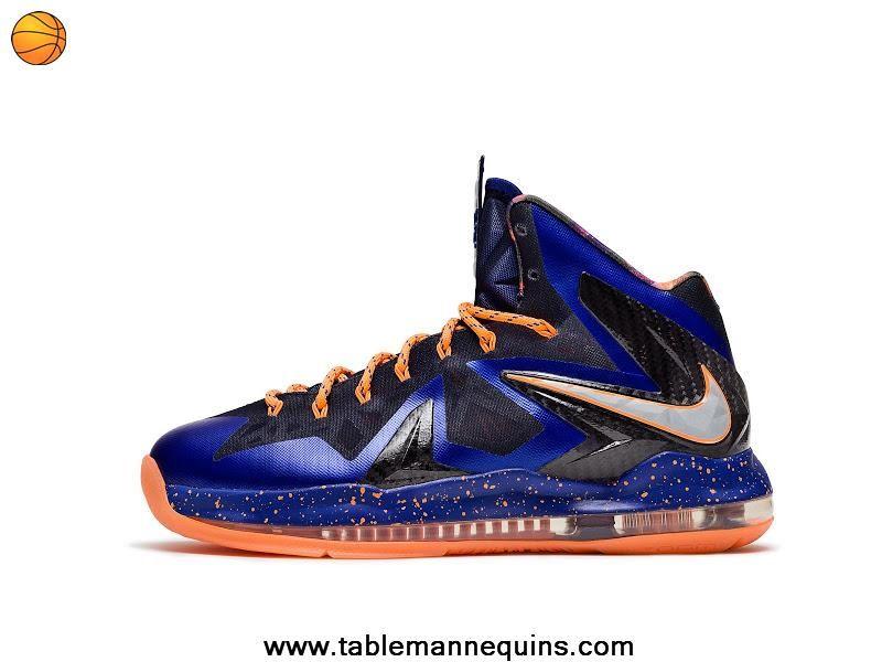 Nike LeBron X PS Elite Hyper Blue Pure Platinum-Blackened Blue-Bright Citrus  579827