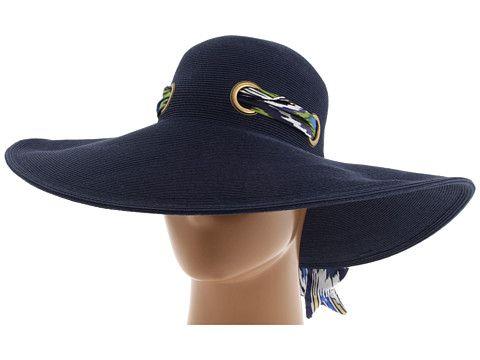 San Diego Hat Company FBL1006 Silk Scarf on Floppy Sun Hat Navy - Zappos.com  Free Shipping BOTH Ways 8ff738ee62c