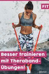 Theraband-Übungen: So können Sie ohne Anstrengung effektiver trainieren   - Fitness Übungen // Ernäh...
