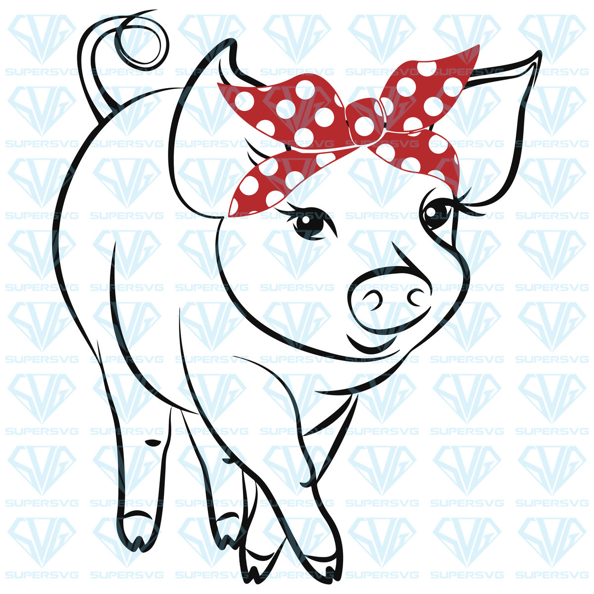 Download Pig SVG Files For Silhouette, Files For Cricut, SVG, DXF ...