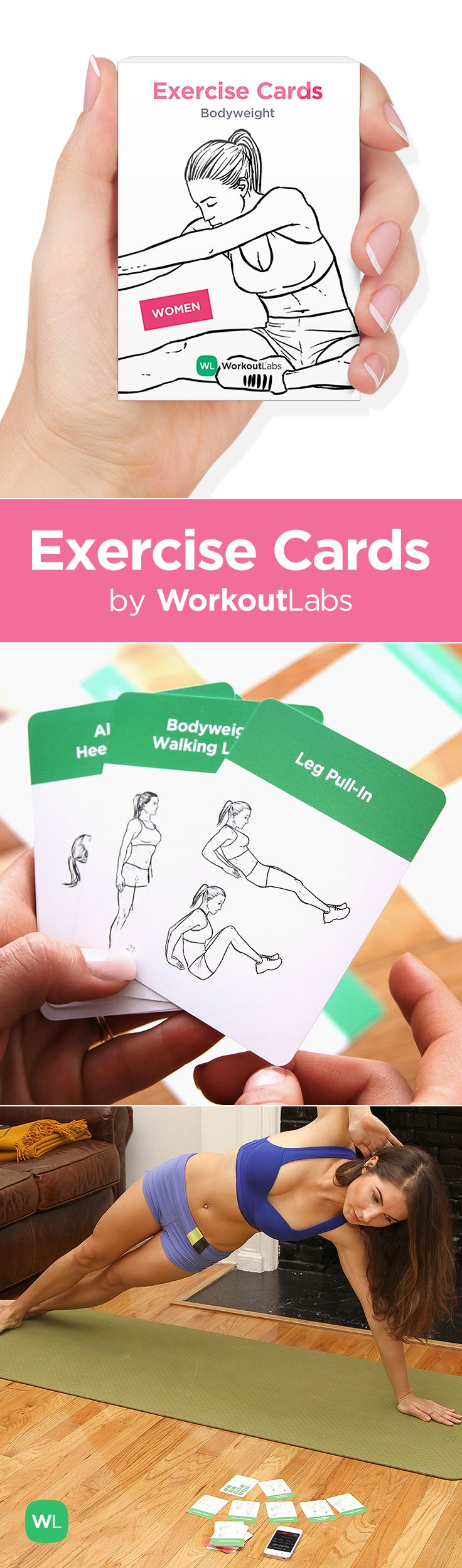 Exercise Cards By Workoutlabs Work Out Anywhere Anytime Card Workout Exercise I Work Out