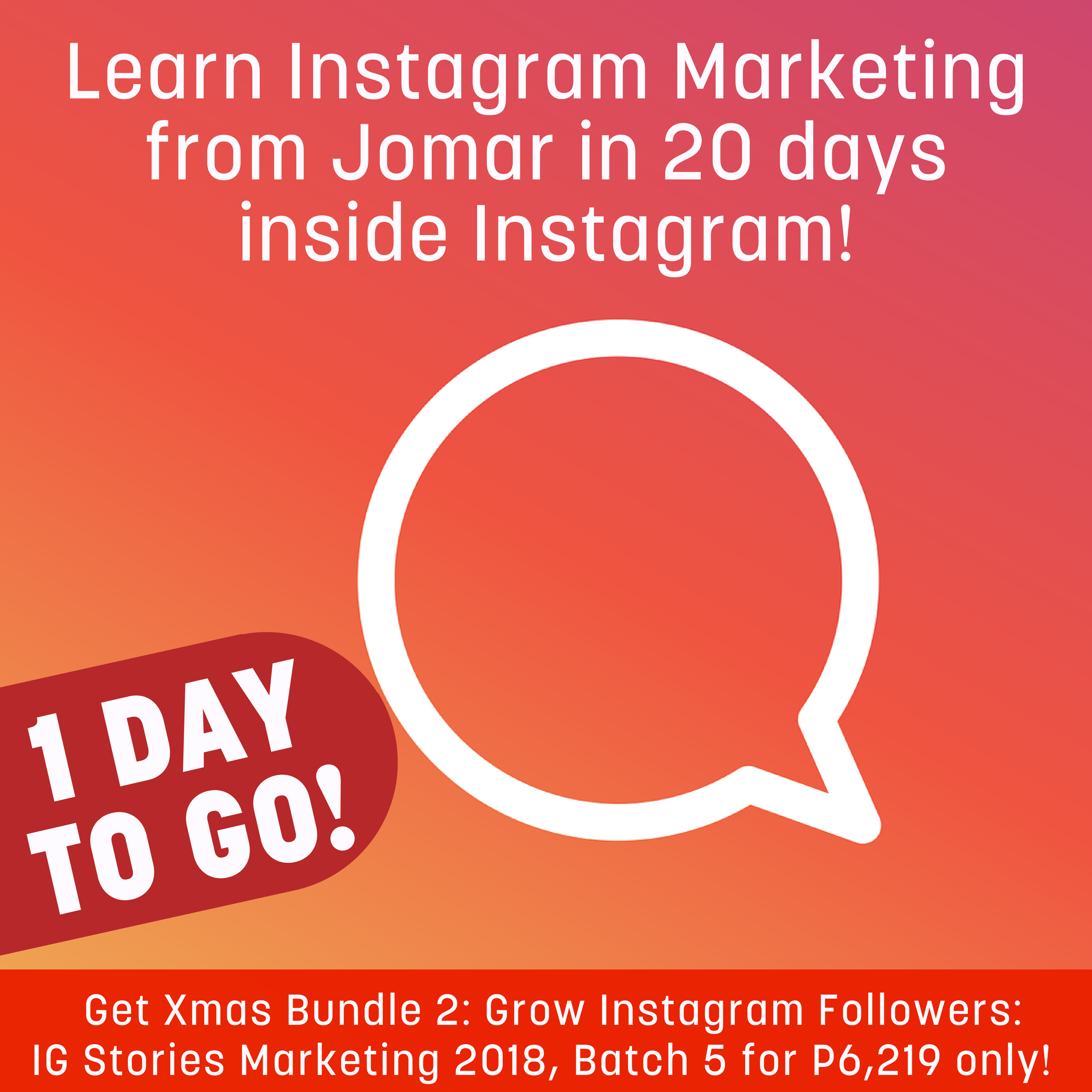 1 DAY TO GO! Be part of the Instagram Gold Rush! NOW NA