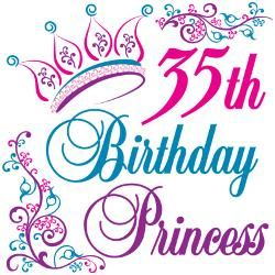 35th Birthday Princess Holidays Anniversaries Birthdays 35th