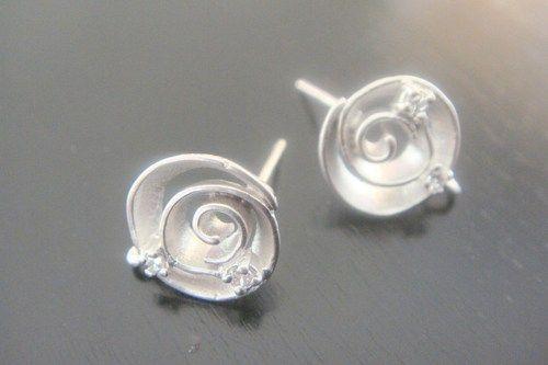 Wholesale Sterling Crystal Round Earring Post Findings, setting, connector, pendants, 2 pc,  BE51485 | Elegantdreams - J