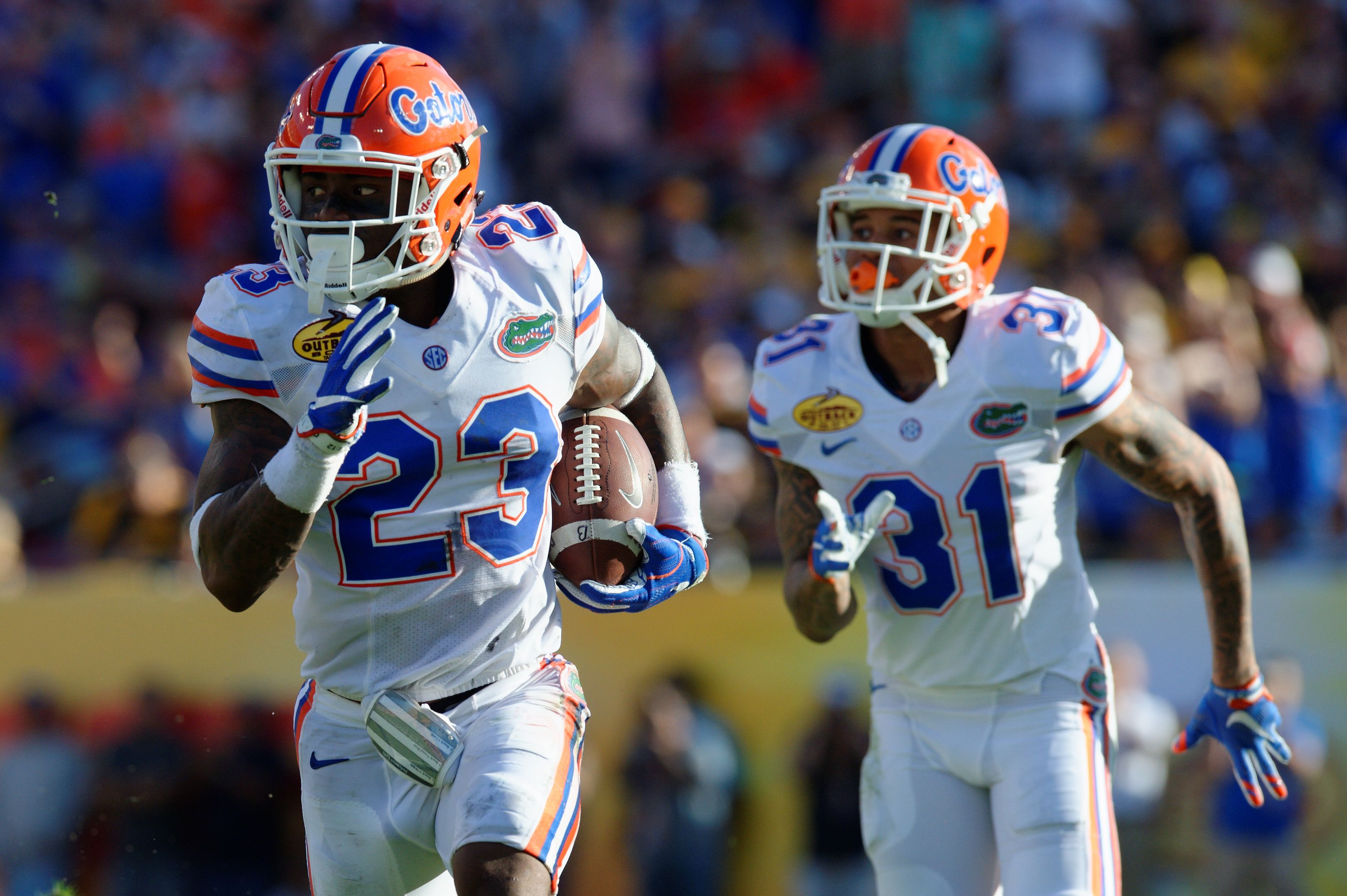 Florida Gators footbal photo gallery from the Outback Bowl