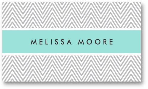 Chic and trendy personal profile business card with light gray chic and trendy personal profile business card with light gray chevron zigzag pattern and aqua blue colourmoves