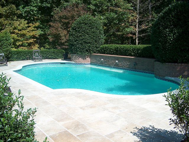 Pool Renovation Turkish Travertine Limestone Pool Decks Pool