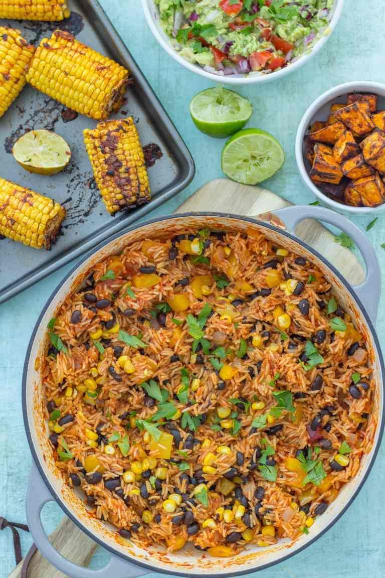 Easy One Pot Mexican Rice With Black Beans And Corn Vegan