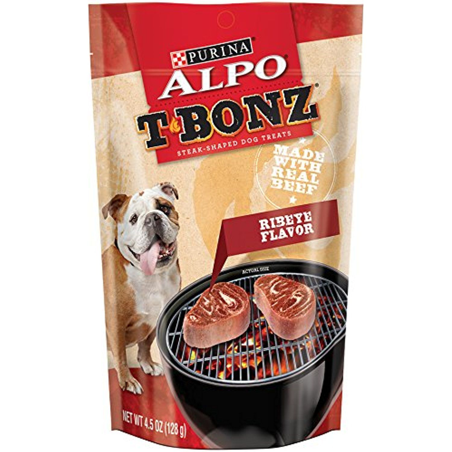 Purina ALPO TBonz Brand Dog Treats, Ribeye Flavor, Steak