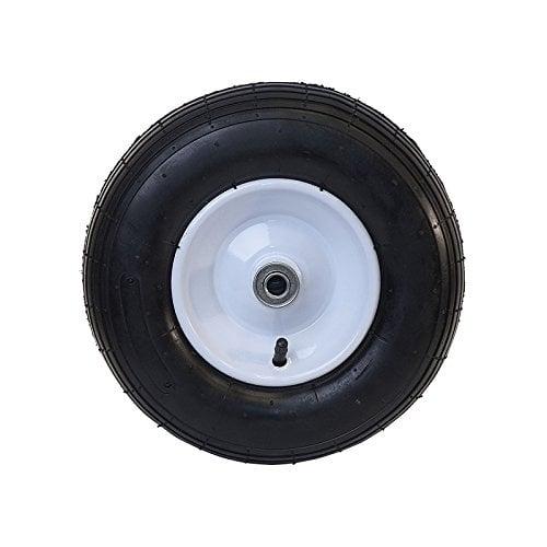 Aleko Ribbed Pneumatic Air Filled Replacement Wheel 13 Inch Black