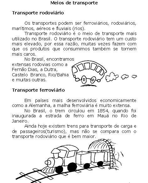 Geografia Meios De Transporte Em 2020 Atividades Meios De