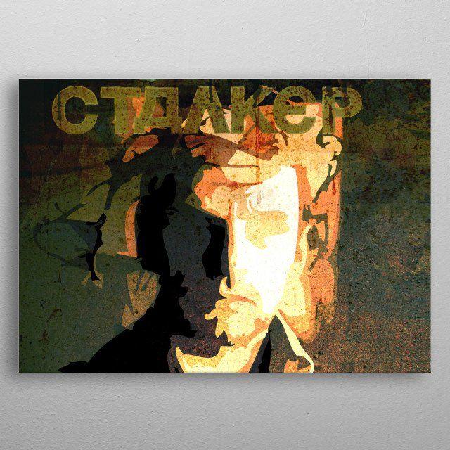 Stalker Movie Poster by Scar Design | metal posters - Displate | Displate thumbnail
