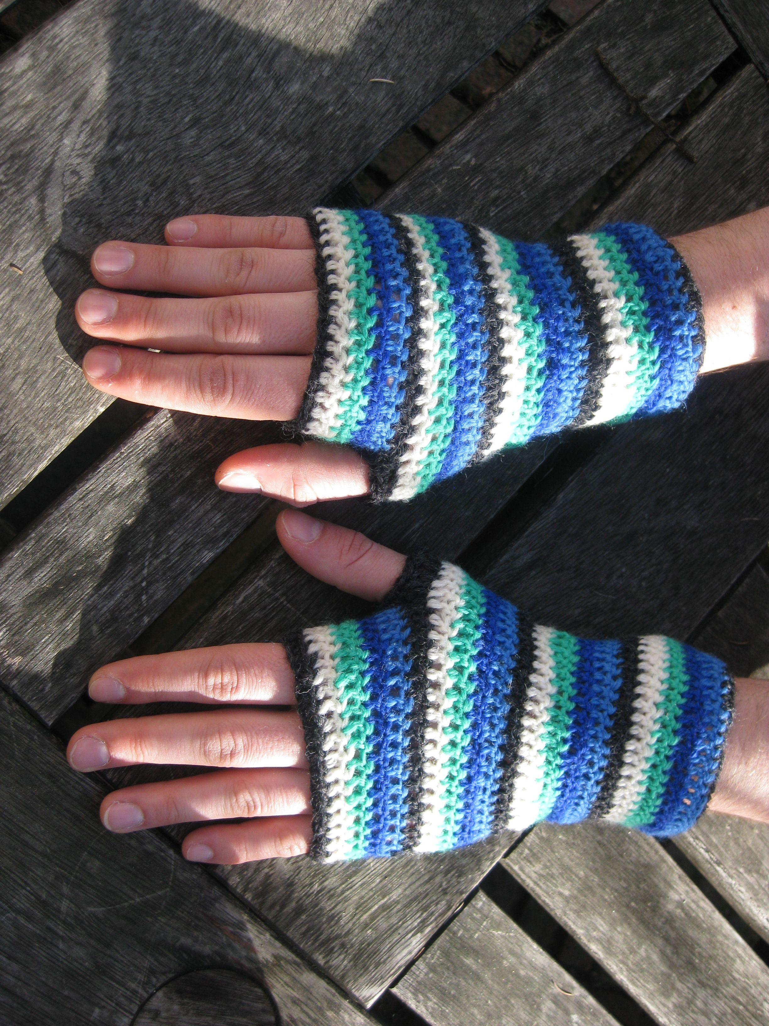 Crochet Fishing Fingerless Gloves