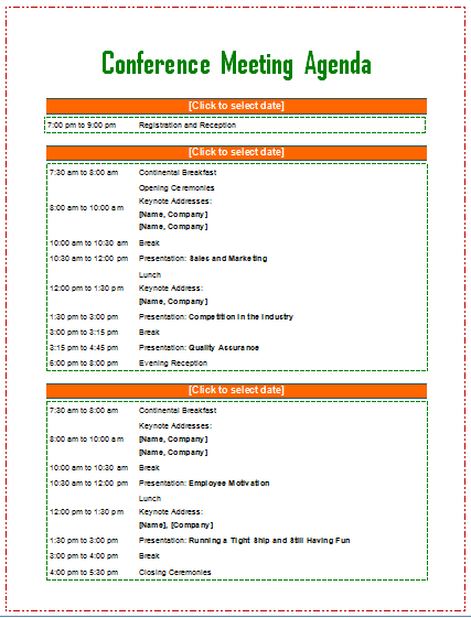 Meeting agenda template from Word Templates Online – Microsoft Word Agenda Templates