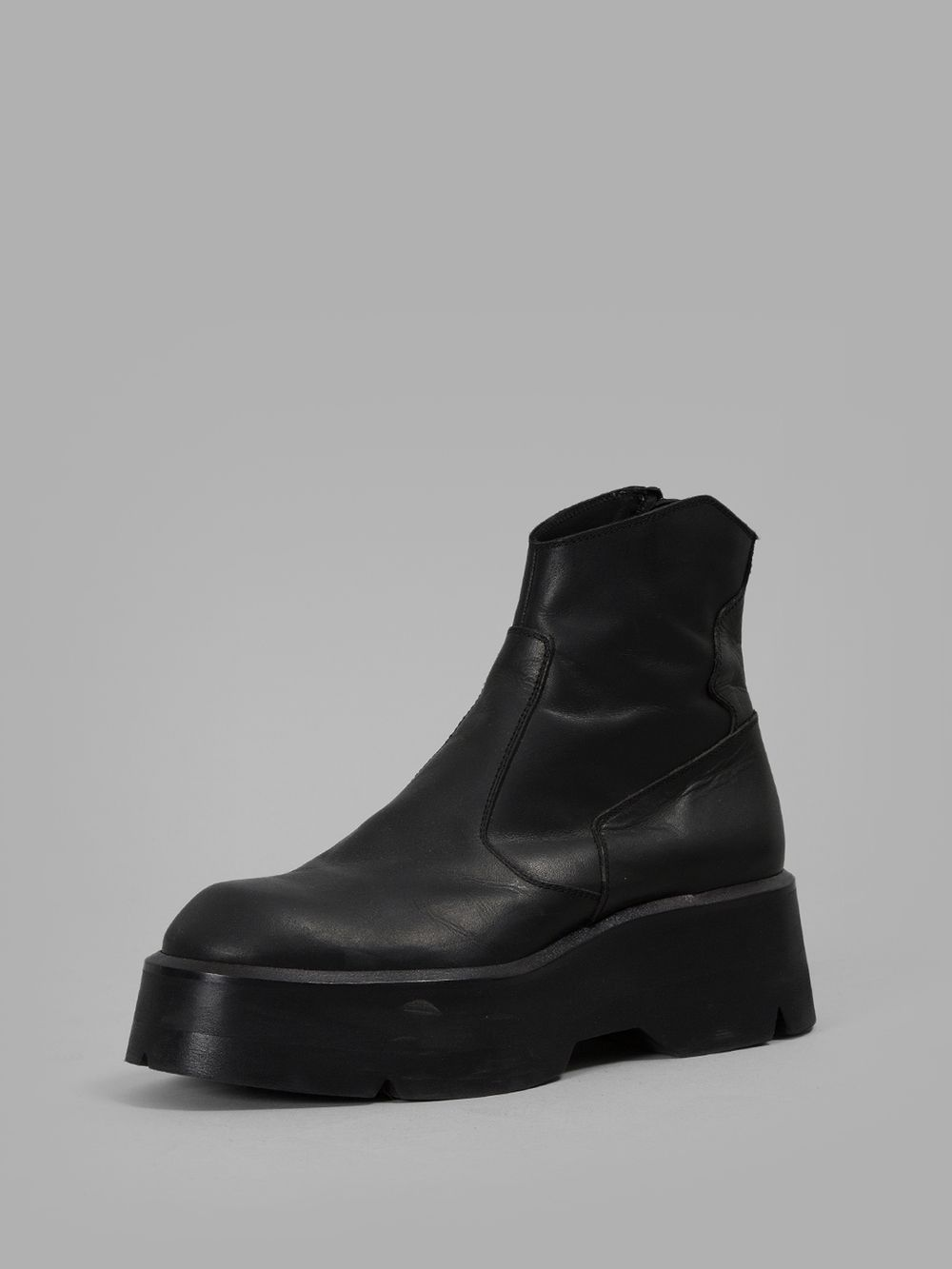 Julius - Men's black platform boots