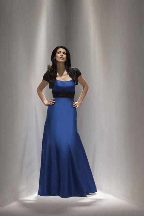 dfd94f354090 Modro-čierne spoločenské šaty s bolerkom S17 - Svadobný salón Valery ...