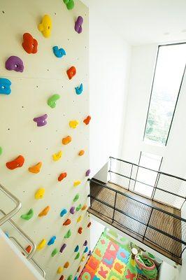 子供と共に育つ家 神戸市 ボルダリング 室内窓 建築 設計