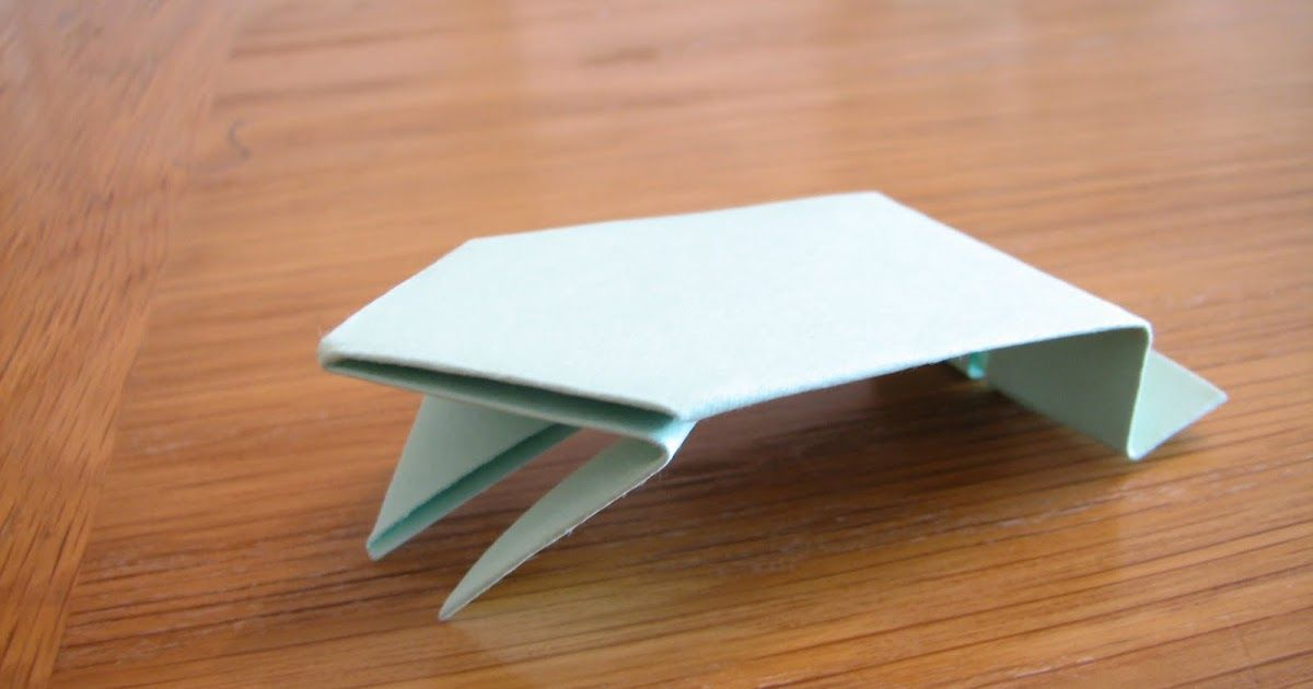 Have Students Fold Origami Jumping Frogs Using Green Index Cards The Color Really Doesn