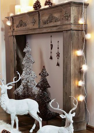 holz kaminumrandung wohntraum collection christmas pinterest faux fireplace and decoration. Black Bedroom Furniture Sets. Home Design Ideas