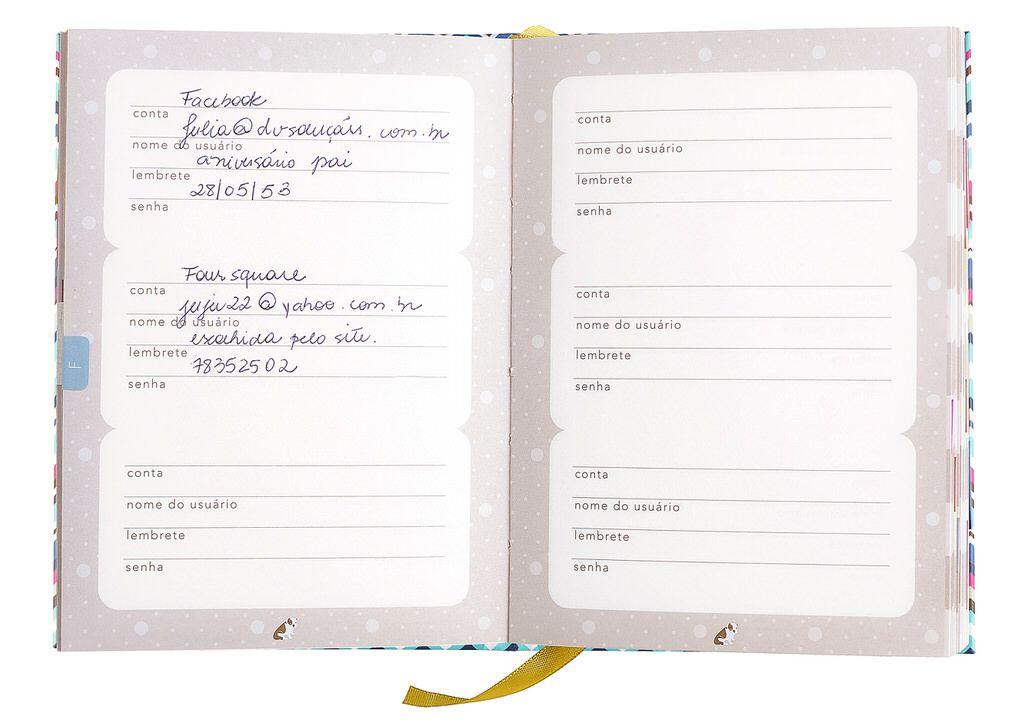 Ideias De Senhas ~ Caderno de Senhas miscel u00e2nea Pinterest Caderno e Produtos