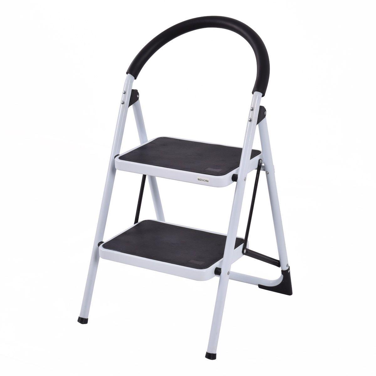 Folding Stool Heavy Duty Industrial Lightweight 2 Step Ladder Folding Stool Step Ladders Kitchen Stools Diy