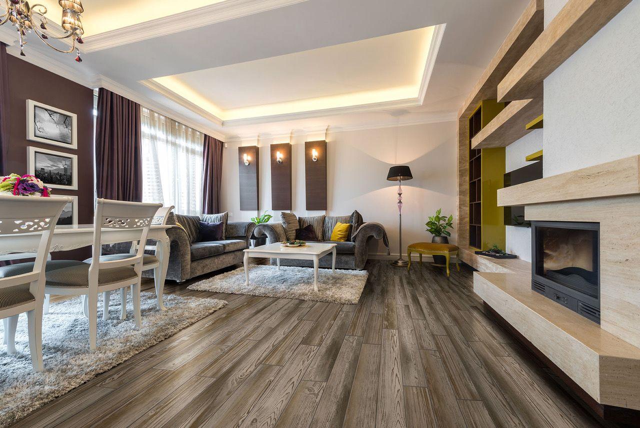 Modern and elegant living room design using Metroflor