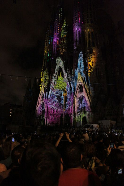 Barcelona Cathedral Gets Covered With Live Colorful Fresco via PSFK