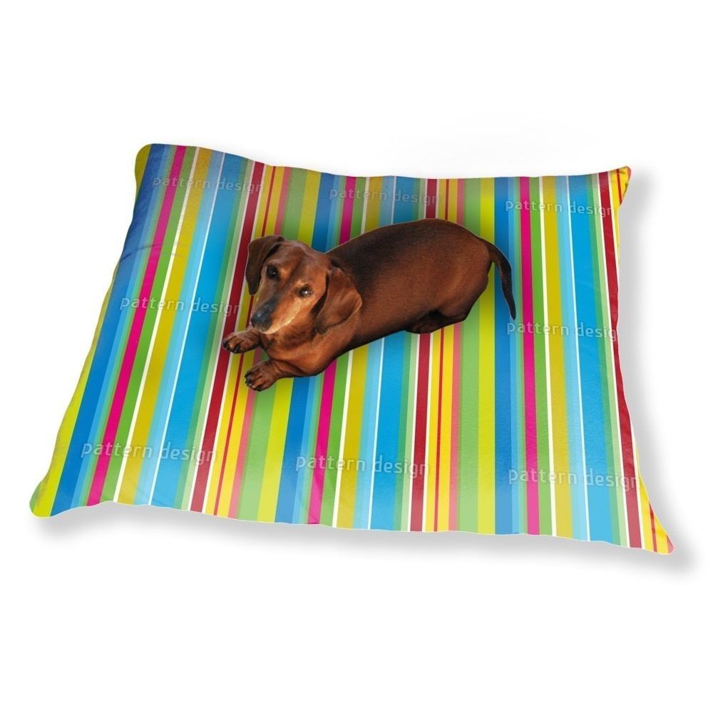 Uneekee Fresh Stripes Dog Pillow Luxury Dog / Cat Pet Bed