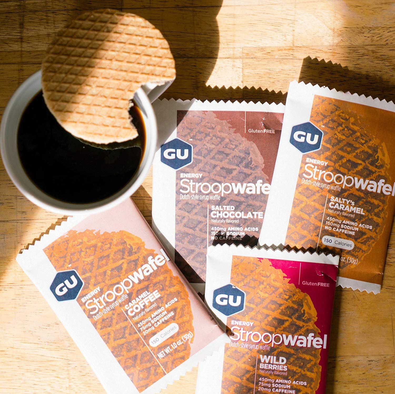 gu energy stroopwafel sports nutrition waffle assorted flavors 16count  stroopwafel sports