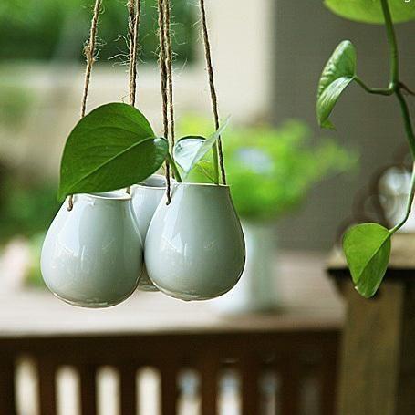 Stile Ikea Zakka Nordic Appesi Bianco Vaso Di Fiori Di Ceramica Bottiglia Uova Decorazione Della Casa