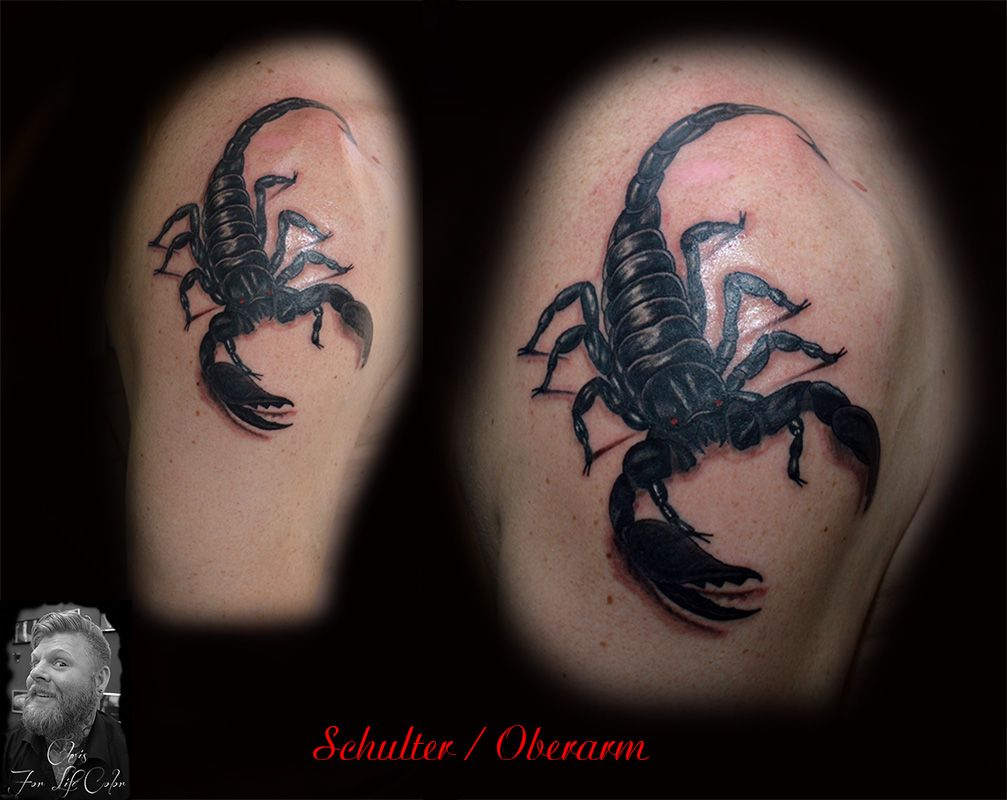 oberarm schulter skorpion tattoorosenheim. Black Bedroom Furniture Sets. Home Design Ideas