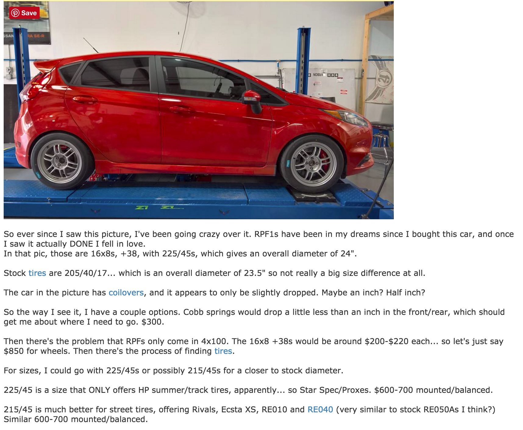 Fiesta St Rpf1 Setup Hot Hatch Fiesta St Going Crazy