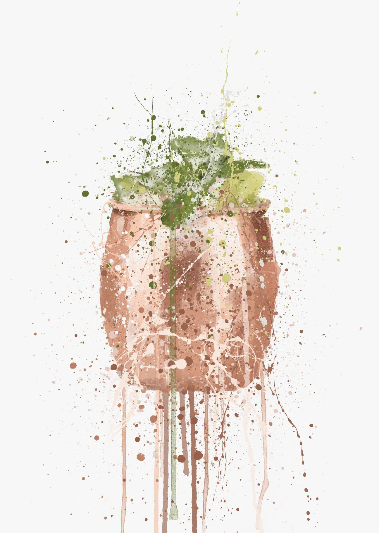 Moscow Mule Cocktail Wall Art Print We Love Prints Wine Wall Art Wall Art Prints Cocktail Art