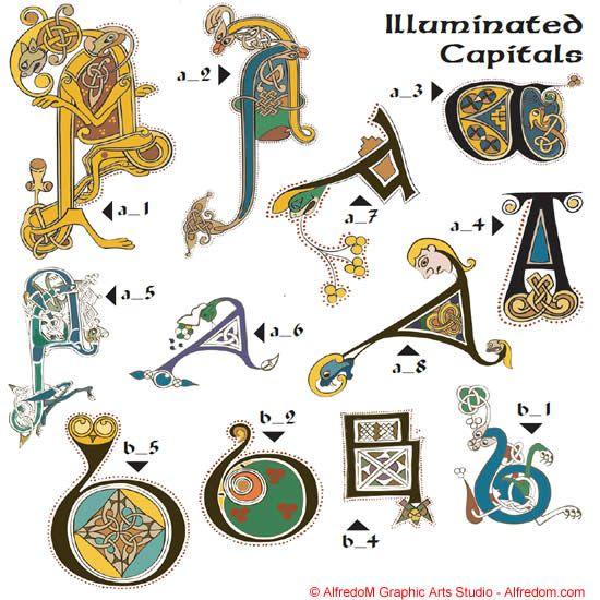 Celtic manuscripts the book of kells initials celtic lettering and ttf fonts kells - Port irlandais en 7 lettres ...