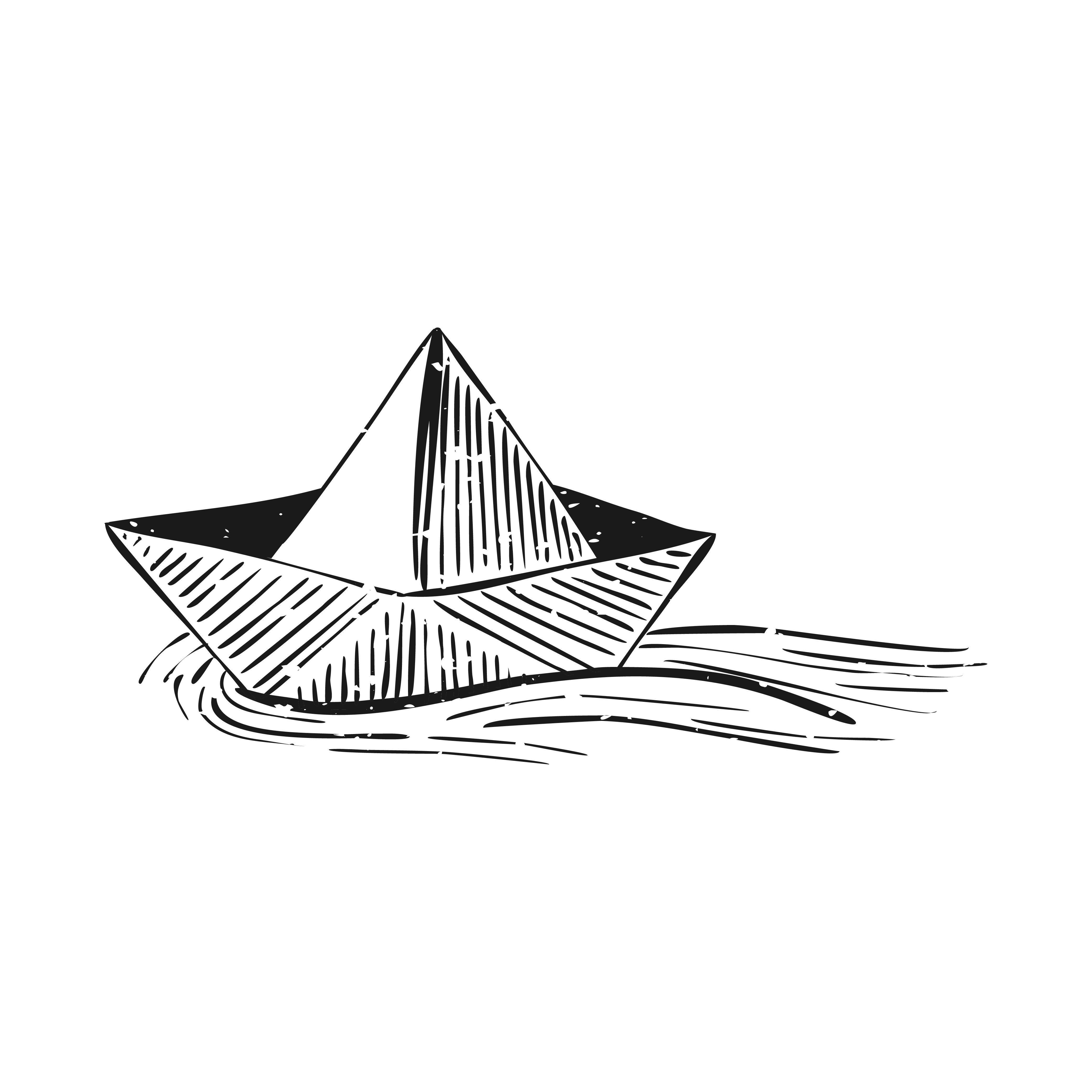 Pin De Daf Debasto En 笑傲江湖 Tatuaje De Barco Aviones De Papel Dibujo Libre De Vectores