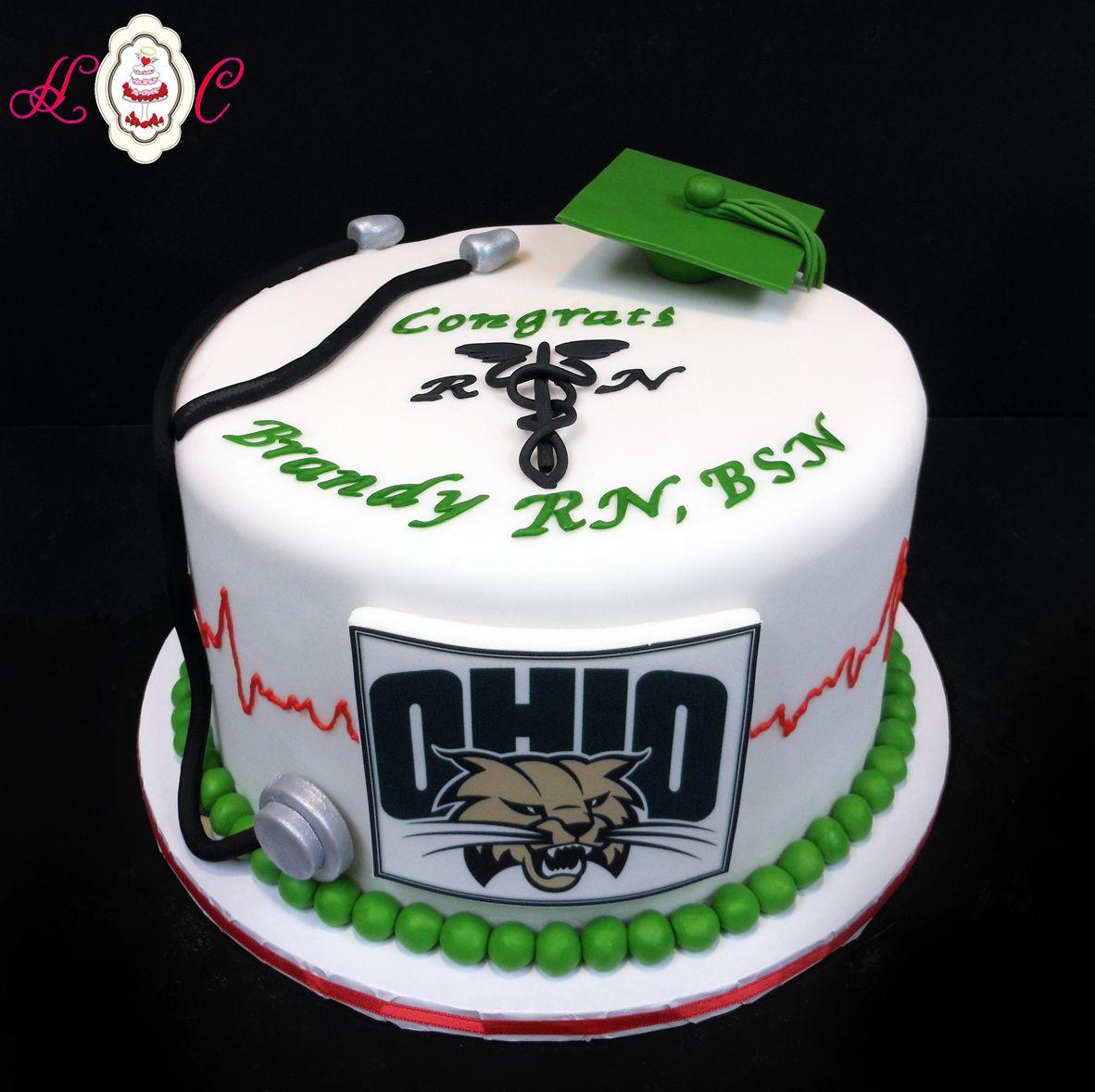 Ohio University Rn Bsn Graduation Cake