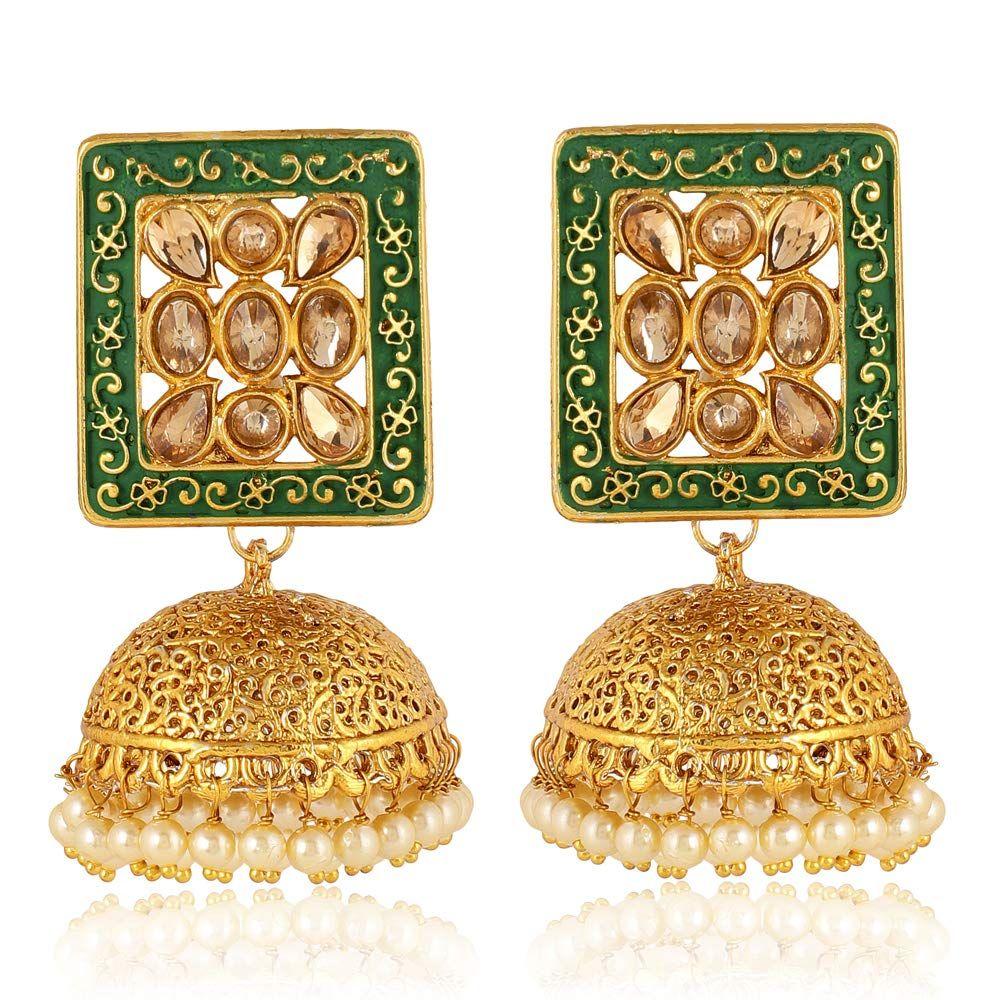 Indian GOLD Plated Oxidized Latest Design Three Jumka Jumki Earring Women Fashion