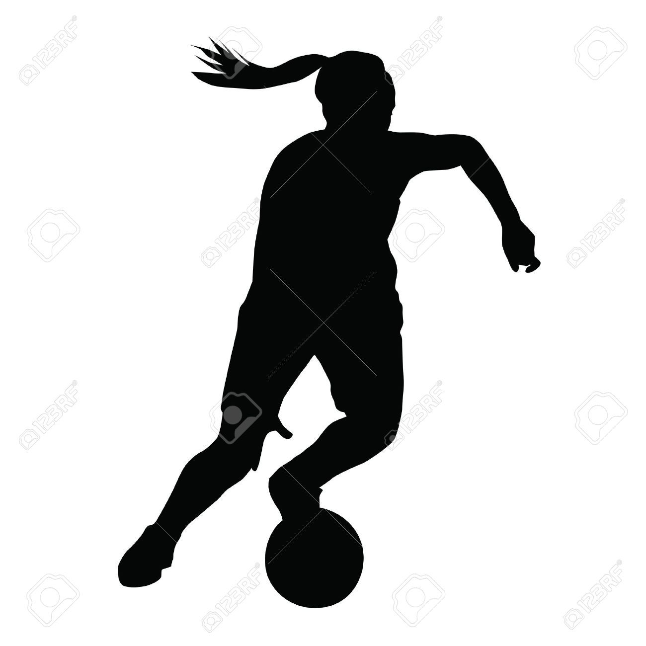 Basketball Player Vector Silhouette Woman Girl Running With Ball Affiliate Vector Silhouette Basketball Girl Running Woman Silhouette Silhouette