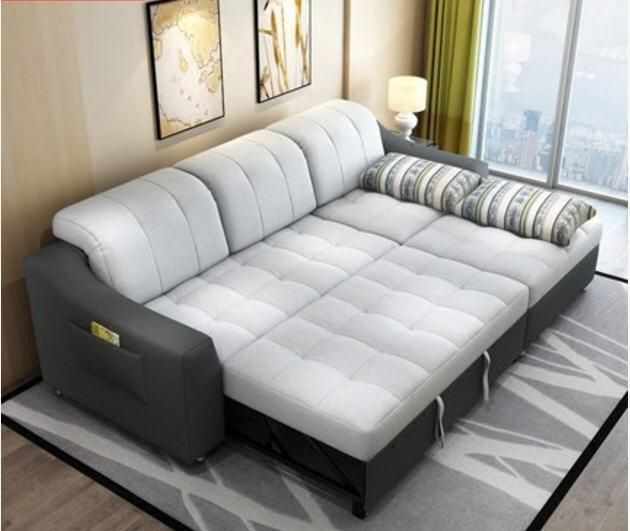 Fabric Sofa Bed With Storage Living Room Furniture Couch Living