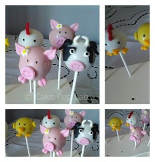 Farmyard  cakepops|: Popcakes Animais da Quinta