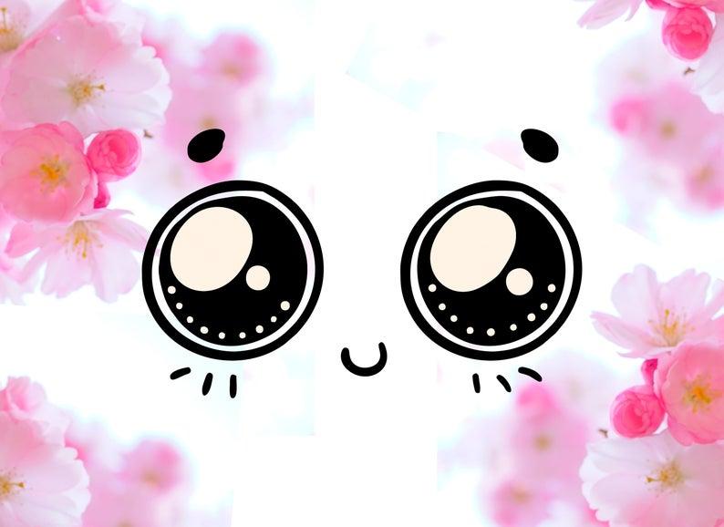 Kawaii Faces SVG, Kawaii Face Clipart, Cute Cartoon svg