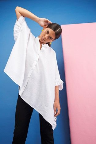 Frida Kahlo inspired Autumn 2017 Collection by Brigid McLaughlin. Pure linen top with stretch cotton twill pants, made in Australia. Ethical, sustainable, artisanal. #frida #fridakahlo #womenswear #ethical #brigidmclaughlin #porcelain #autumn #fall #autumn2017 #fall2017 #fallfashion #womensfashion #fashion #ethicalfashion #slowfashion #australia #australianfashion #sydney #fashiondesign #fashiondesigner #wardrobeessentials #ootd #outfitoftheday #sustainablefashion #linen #top