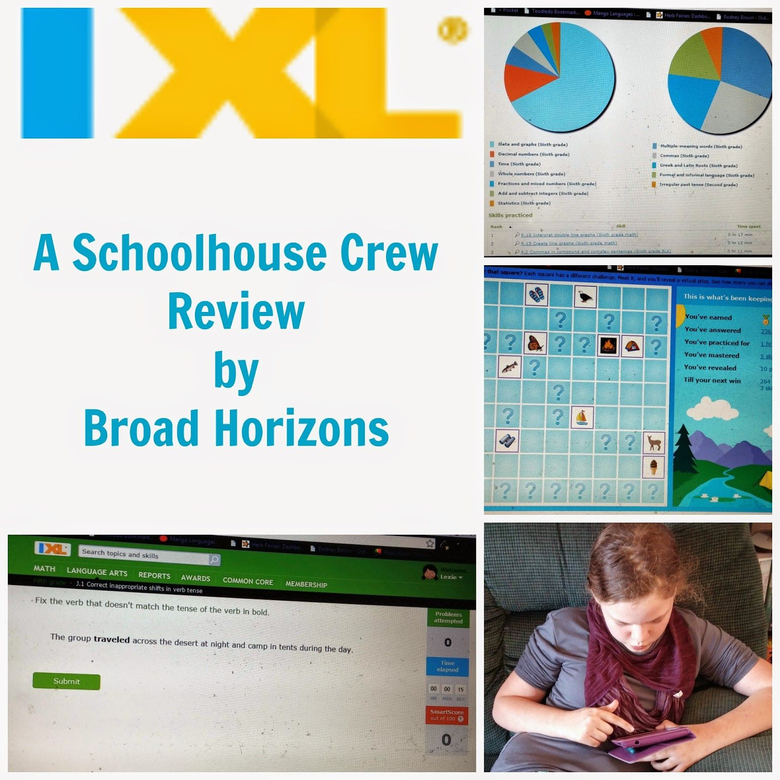 Broad Horizons: Schoolhouse Crew Review: IXL | Homeschool Reviews ...