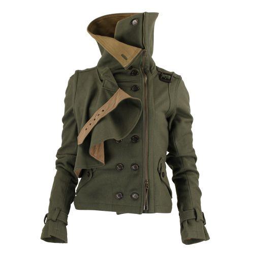 BADASS Military Inspired Funnel Neck Jacket.