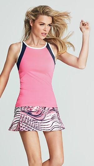 Tail Ladies Plus Size Tennis Outfits Tank Top Skort Making