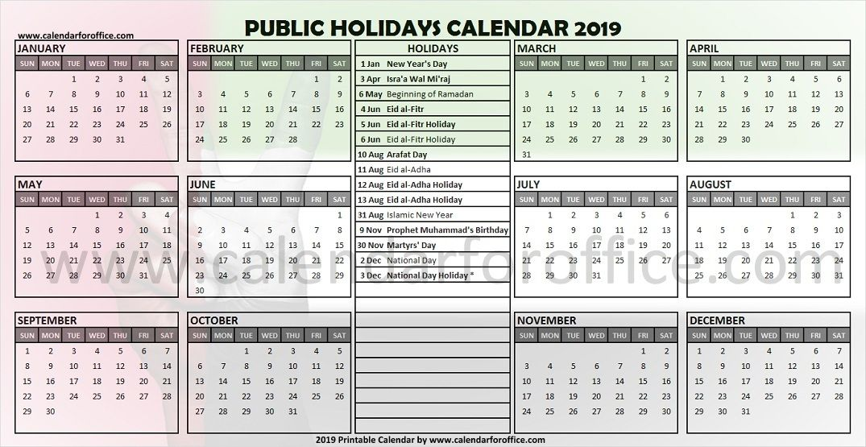 Calendar 2019 United Arab Emirates Holidays Holiday Calendar Holiday In Singapore February Holidays